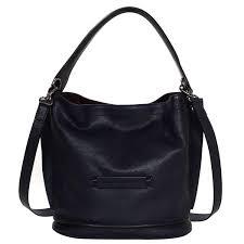 longchamp navy leather 3d bucket bag w cross strap rt 595 for at 1stdibs