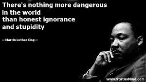 Famous Martin Luther King Quotes Impressive There's Nothing More Dangerous In The World StatusMind
