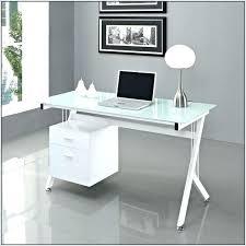 white desk with glass top glass desk ergonomic white glass top desk white glass top desk