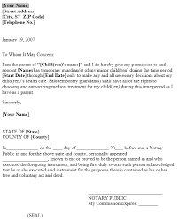 Power Of Attorney For Child Care Power Of Attorney Letter For Child Care