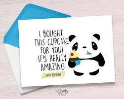 Printable Panda Happy Birthday Card Ready To Print Panda Happy