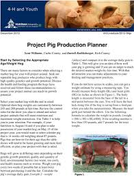Show Pig Weight Gain Chart Project Pig Production Planner Pdf