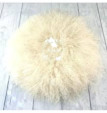 round rug image of cream white flokati 8x10 ivory area cleaning