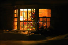 Welcome Home Christmas Tree In Window Stock Photo  Image 46288639Christmas Tree In Window