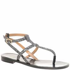Raoul Size Chart Silver Gunmetal Glitter Leather Sandals