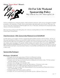 100 Sample Sponsorship Proposal Letter Template