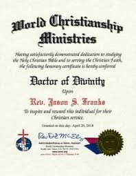Certificates For Ordination Church Charter Doctor Of Divinity Wcm