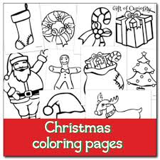 Christmas Coloring Pages Gift Of Curiosity