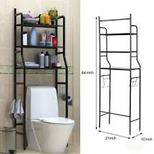 New 3 Shelf Over The Toilet Bathroom Space Saver Towel Storage Rack