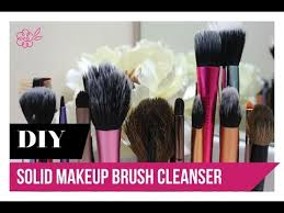 this is a super simple diy for creating your own solid makeup brush cleanser that you can take on the go fyi it worked wonders on cleaning my