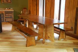 living edge furniture. Custom Made Cherry Dining Table And Benches With Live Edge Living Furniture