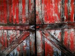 red barn door. Red Barn Door - 60x80 G