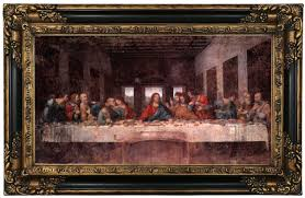 the last supper by leonardo da vinci framed oil painting print on canvas in