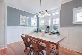wainscoting dining room. Installing Beadboard Wainscoting Dining Room Craftsman With Folding Chairs Transitional Kitchen Island Lights W