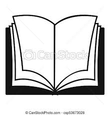 book dictionary icon simple black style csp53673028