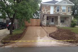 Stained concrete patio Solid After Driveway Stained Concrete Installation Stamped Concrete Patio Construction Fence Repair Recognizealeadercom Gallery For Before And After We Also Provide Stained Concrete