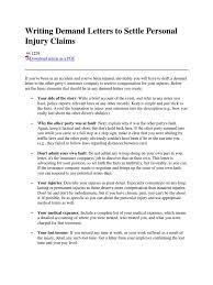 Writing Demand Letters Insurance Politics