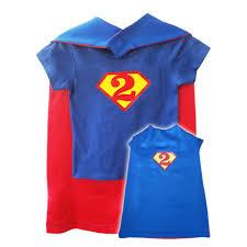 Cape Size Chart Superman Birthday Shirt And Cape Set