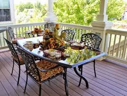 deck wrought iron table. Image Of Cozy Shade Tarps For Deck Patio From Smoked Oak Wide Plank Engineered Hardwood Also Wrought Iron Table U