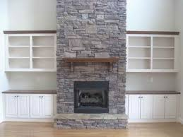 contemporary gas fireplace stones all design modern intended for stone ideas 16