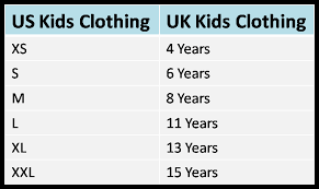 Uk Shoe Size Chart Child Us Uk Clothing And Shoe Size Conversion Charts
