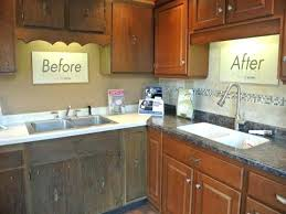 oak cabinet refacing before and after kitchen cabinet refacing refinishing oak cabinets remodel with
