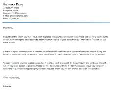 Sick Leave Letter From Doctor Medical Leave Letter To Download Sick From Doctor Warning For