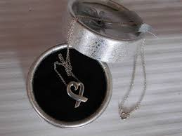 tiffany co paloma picasso loving heart pendant and necklace 925 silver 42 cm