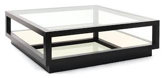dark smoked oak with bronze tinted mirror shelf and clear glass top x h wood coffee table