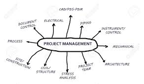 Project Management In A Flowchart Isolated In White Background