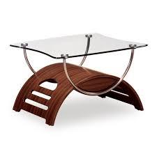 global usa t63 meryl 2 piece glass coffee table set in mahogany w chrome legs