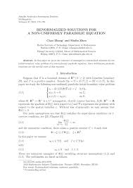 the well posedness of renormalized solutions for a non uniformly parabolic equation request pdf