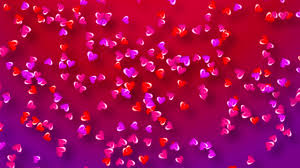 Colorful Hearts Background For Valentines Day Love Romance Youtube