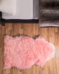 candy floss pink sheepskin rug 2x3 5 ft