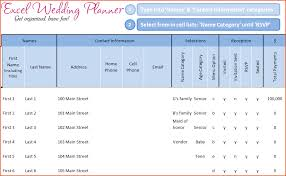 Excel Guest List 6 Wedding Guest List Template Excel Bookletemplate Org