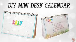 DIY Mini Calendar 2017 || Desk Calendar || Step by step tutorial
