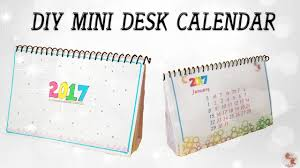 diy mini calendar 2017 desk calendar step by step tutorial