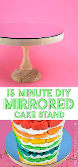 any cake looks even more impressive on a mirrored cake stand see how to make