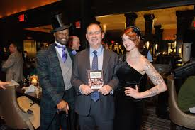the launch party for the algonquin round table new york a historical guide by kevin fitzpatrick was held at the algonquin hotel