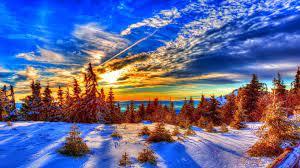 Winter Sunset Desktop Wallpapers - Top ...
