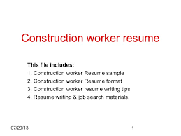 construction worker resume examples and samples examples of resumes essay dialogue between two friends 47 constraint development essay