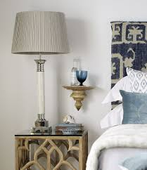 when choosing your bedside lamps pay attention to height to provide sufficient light when reading in bed the lower edge of the lampshade should be well