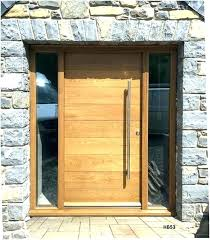 wooden front doors oak with glass panels old for modern wood medium size o
