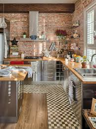 Charming Apartment Decorated in Industrial Style. BricksKitchen ...