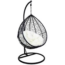 charles bentley garden rattan hanging swing chair