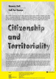 call for essays citizenship and territoriality citizens for call for essays citizenship and territoriality