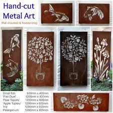 exterior wall art metal mesmerizing wall art design ideas australian steel metal garden wall art design
