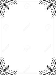 simple frame design. Perfect Frame Simple Frame Border Design Lines Vector Design Stock  24306545 In N
