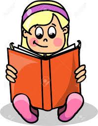 cartoon reading a book stock vector 13636999