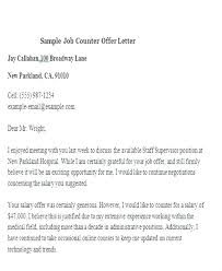 Sample Letter Negotiating Salary In A Job Offer Brilliant Ideas Of Counter Offer Letter Sample Salary Proposal